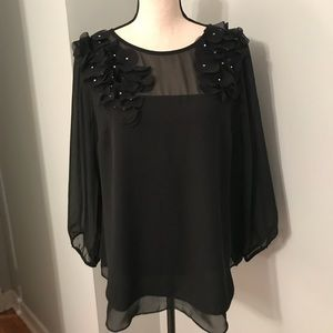 ECI New York worn once embellished top